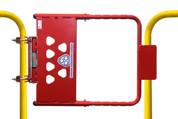 Adjustable Self-Closing Safety Gate | Red and Yellow Gate